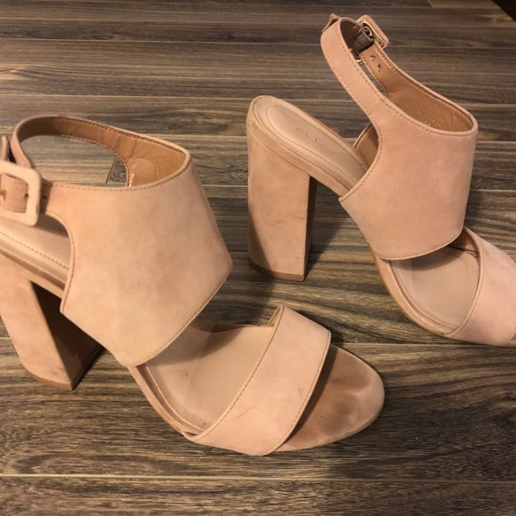 👡 Nude Wedge High Heels 👡